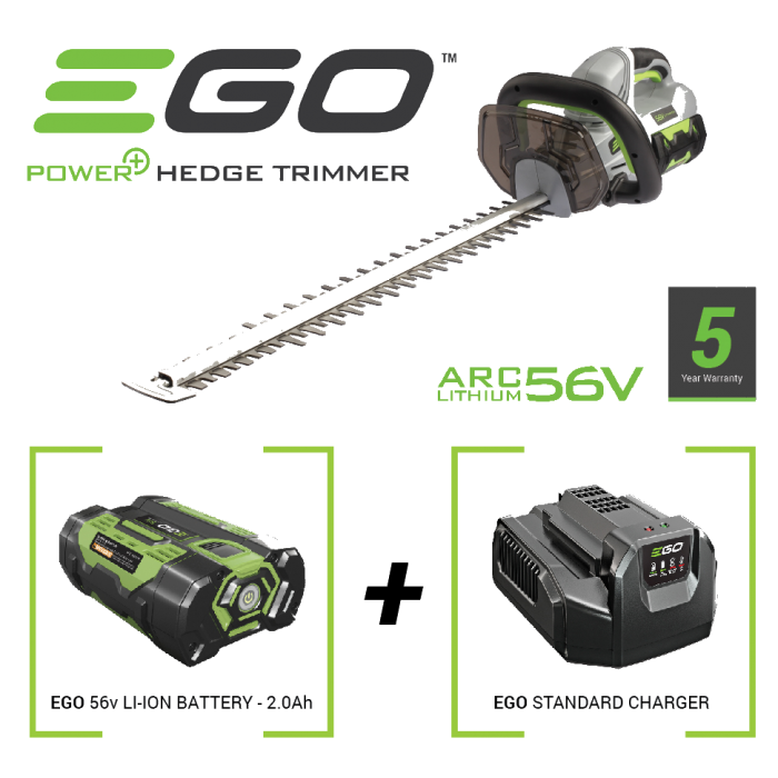 Ego Power Plus 56 Volt Hedgetrimmer Package Deal